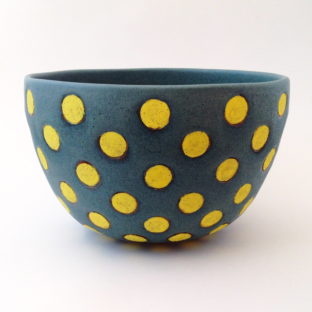 Yellow Polka Dot Bowl