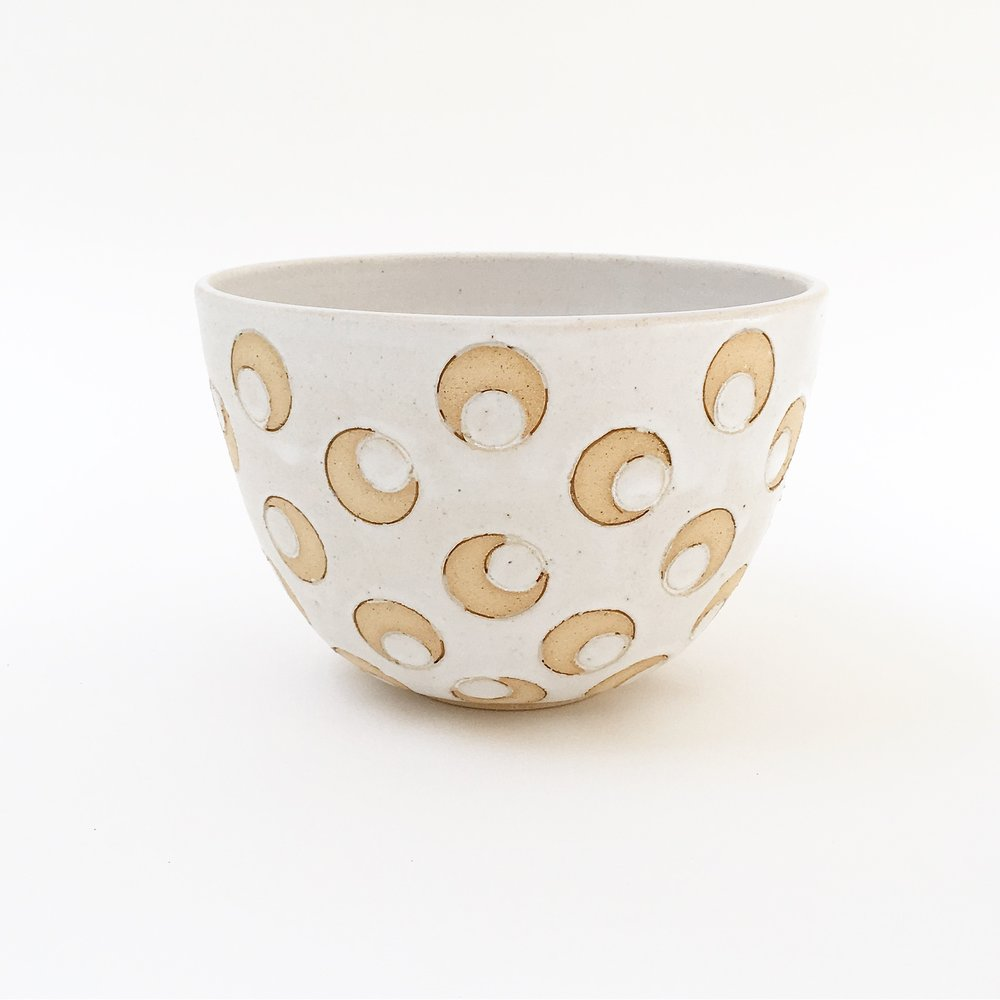White Crescent Bowl