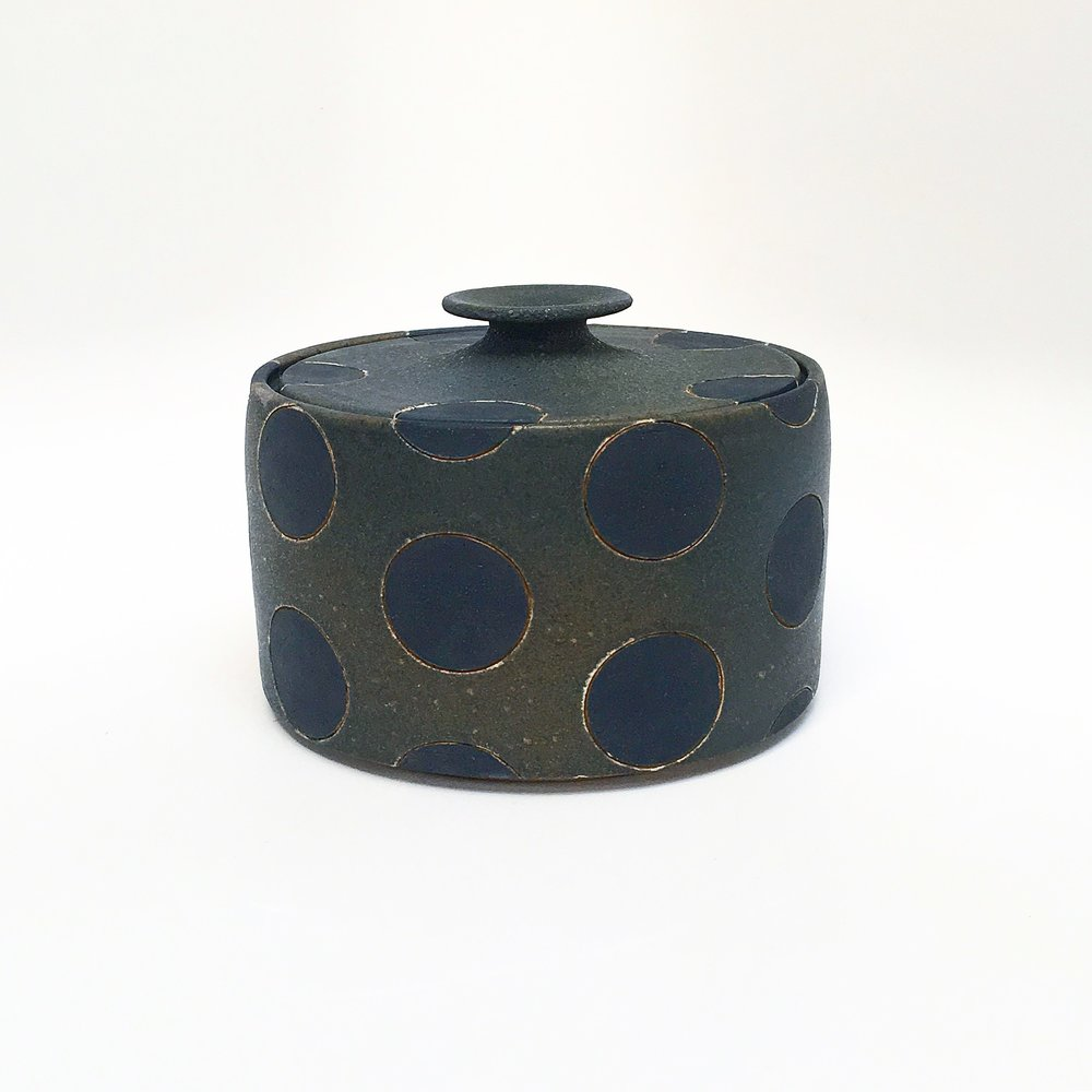 Black Polka Dot Jar