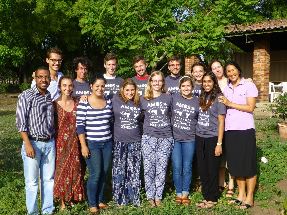 The PWAP-AMOS Global Health Practicum participants at the AMOS campus in Managua, Nicaragua in May 2015.