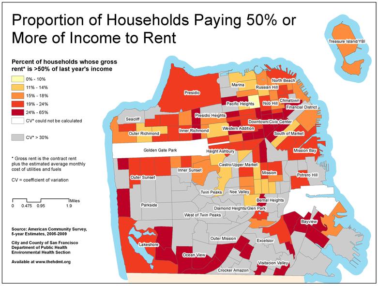 Источник: Sustainable Communities Index. Финансисты рекомендуют тратить на жилье не более 30% годового дохода. Расходовать больше 50% доходов просто глупо.
