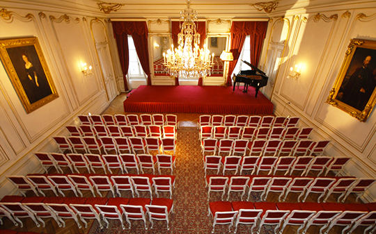 Figaro Saal, wo unsere Studentekonzerte stattfinden/ The Figaro Hall for our student concerts