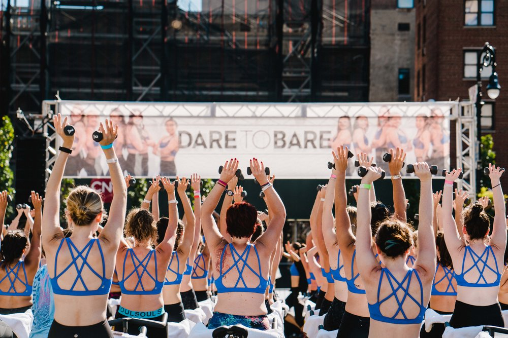 FEEL THE SUPPORT - We Dare to Bare is a safe place where you will be surrounded by endless support and meet a community of people who are denouncing their own insecurities and are deeply passionate about movement as a tool for empowerment. By supporting one another and embodying our message of self-love, we can collectively change the conversation around women's appearances for weight loss and typical beauty ideals to that of acceptance, empowerment and positivity.