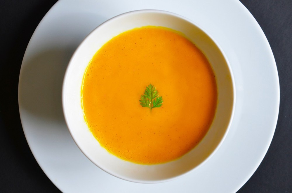 Ginger Cardamon-Carrot Soup  (Omit leeks,apple,coconut milk. Add 2 TB melted ghee before blending soup.)
