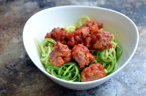 Zoodles and Meatballs from Nom Nom Paleo