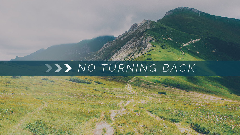 No Turning Back - Join us January 3