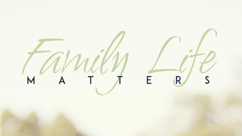 Family Life Matters - Virgil Walker