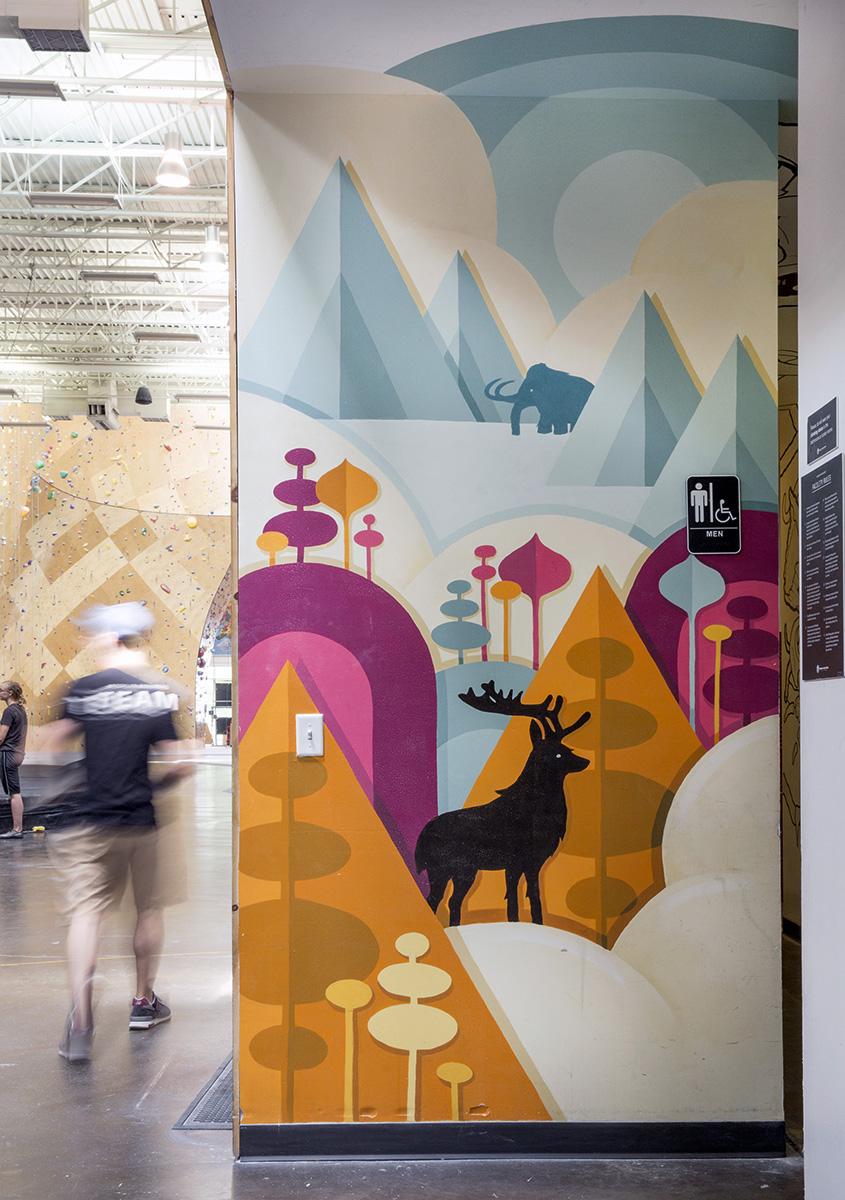 Brooklyn Boulders Mural