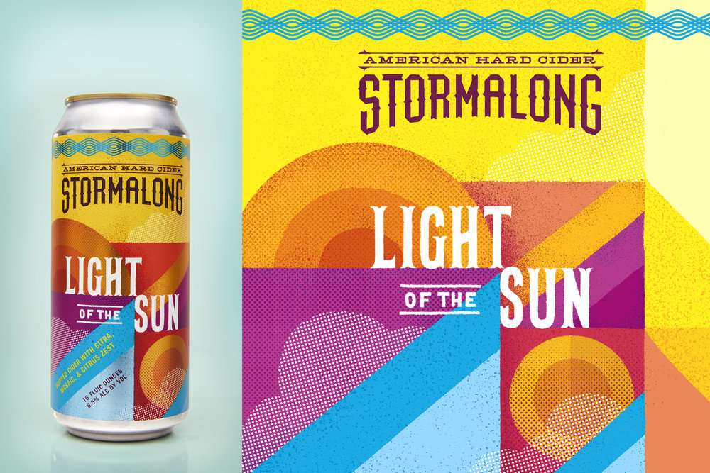 Stormalong Hard Cider Can