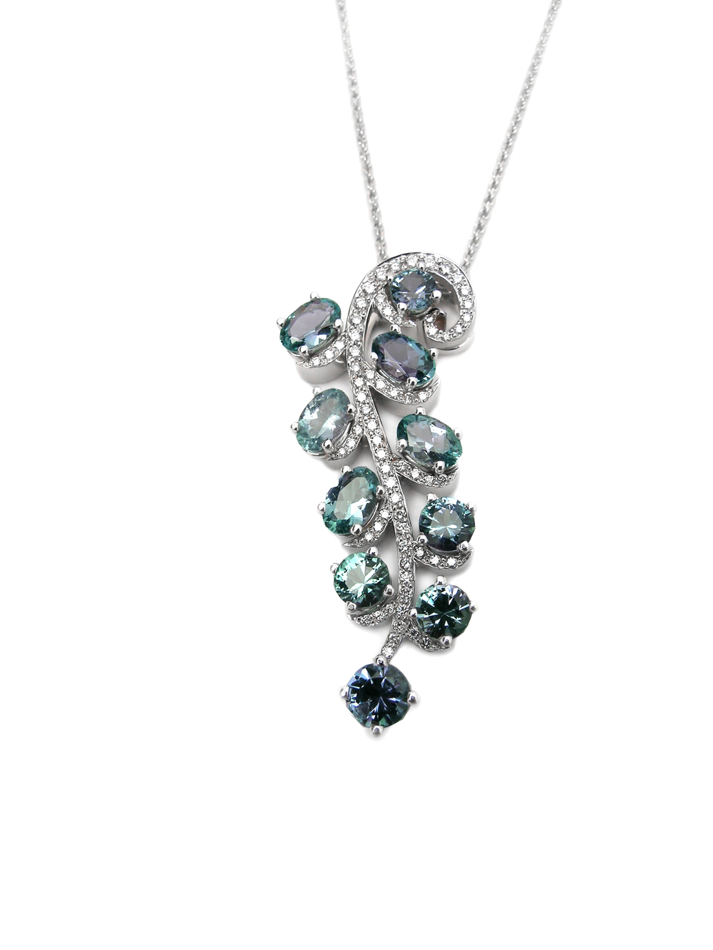 Kornarupine and Diamonds, design by Sharon Curtiss Gal