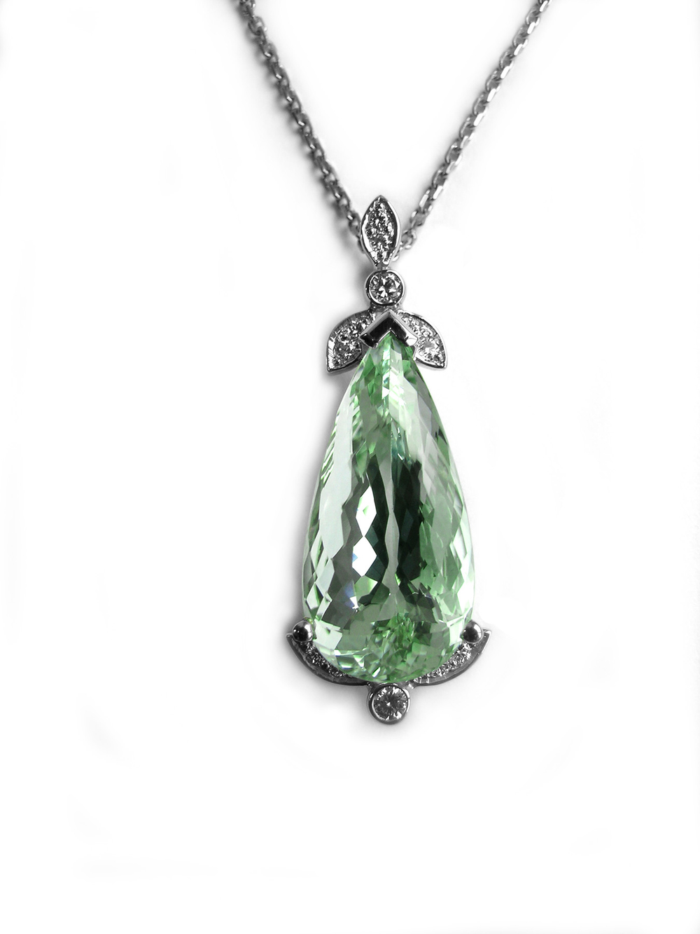 Green Beryl and Diamonds