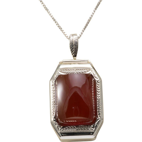 14k white gold and carnelian pendant the gem vault 14k white gold and carnelian pendant aloadofball Choice Image