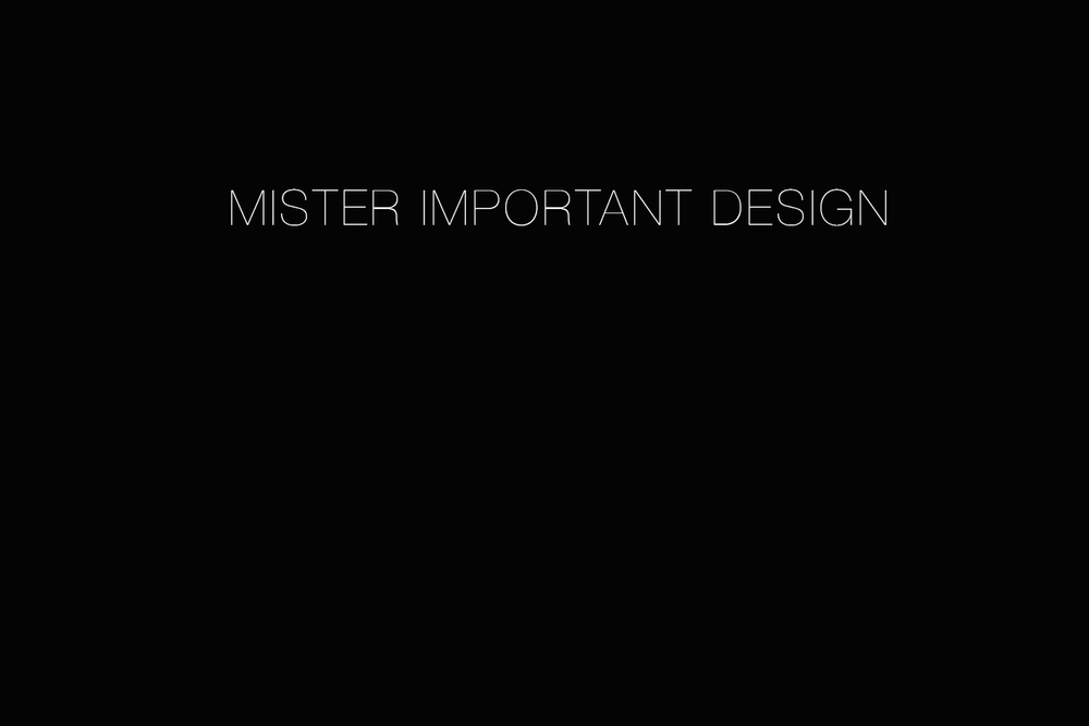 Mister Important Design, Hotels, Restaurants, Nightclubs