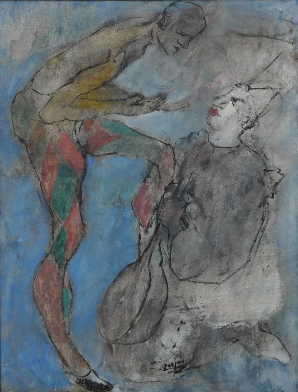 Harlequin and white clown (c.1930-35)