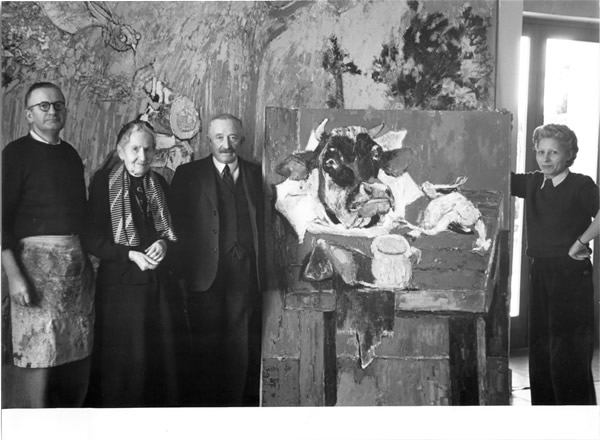 Lorjou with Yvonne Mottet and his parents