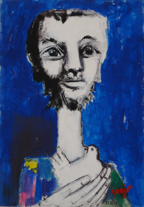 Man with dove (1967)