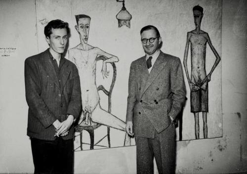 Bernard Buffet and Bernard Lorjou in 1948