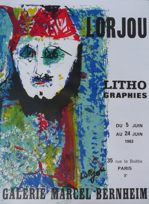 Lorjou LIthographies (Lorjou lithographies)     Galerie Marcel Bernheim   Paris, France    J  une 5, 1963 - June 24, 1963