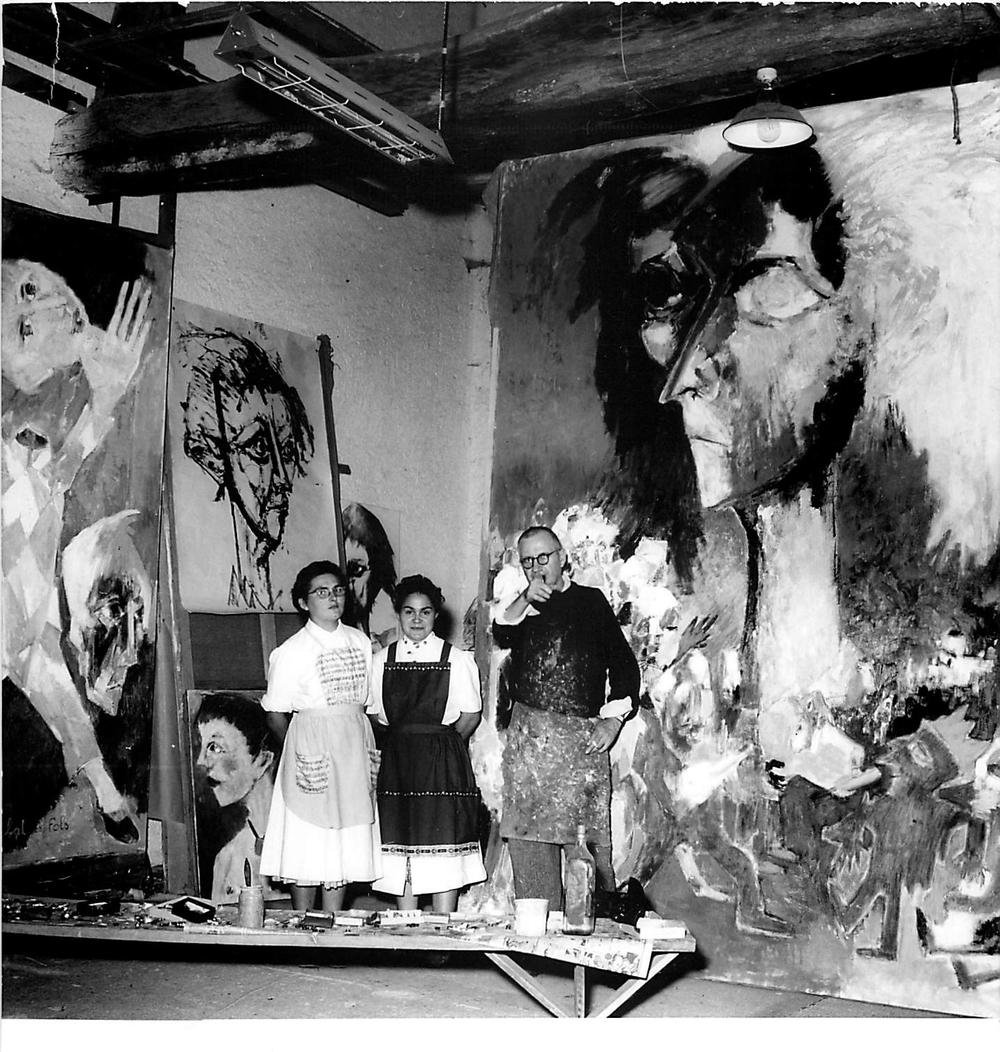 """Lorjou painting """"Le Bal des Fols"""""""