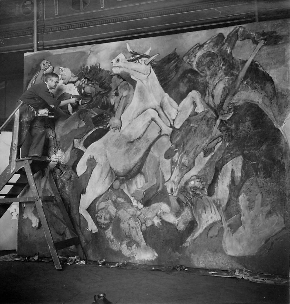 Lorjou painting La Chasse aux Fauves