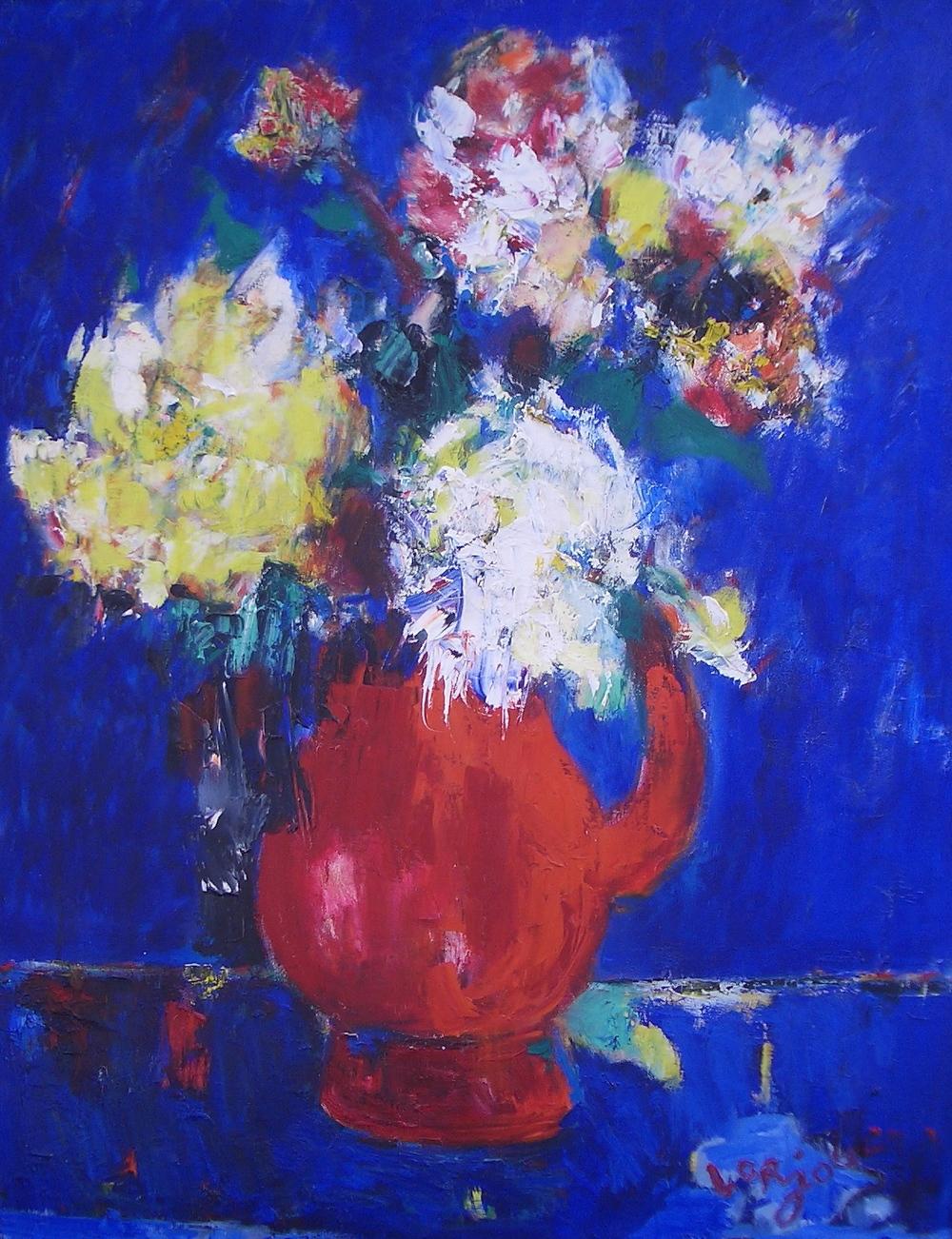 Bouquet sur fond bleu (c.1955)