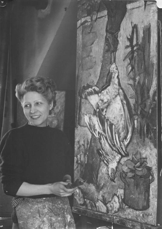 Yvonne Mottet in her studio