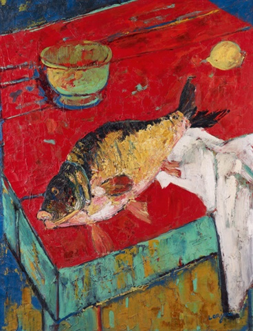 Nature morte au poisson et citron