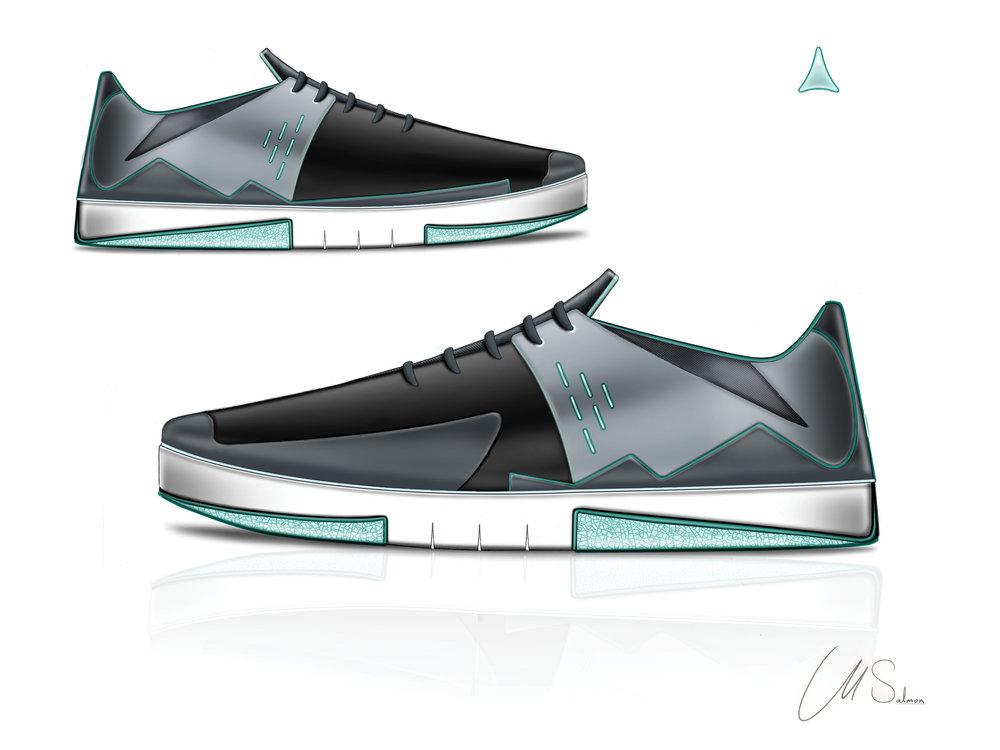 Toe-Cap Skate Shoe