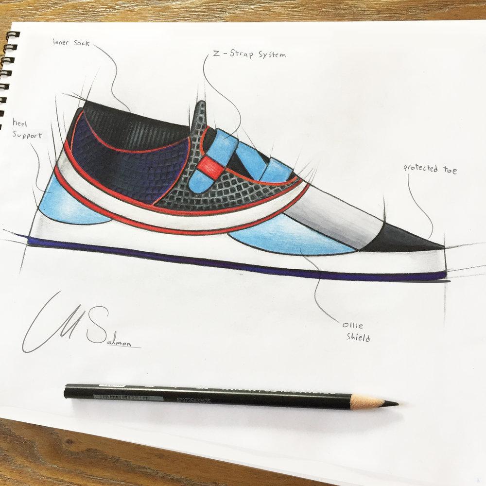 """""""Z-strap"""" Skate Shoe"""