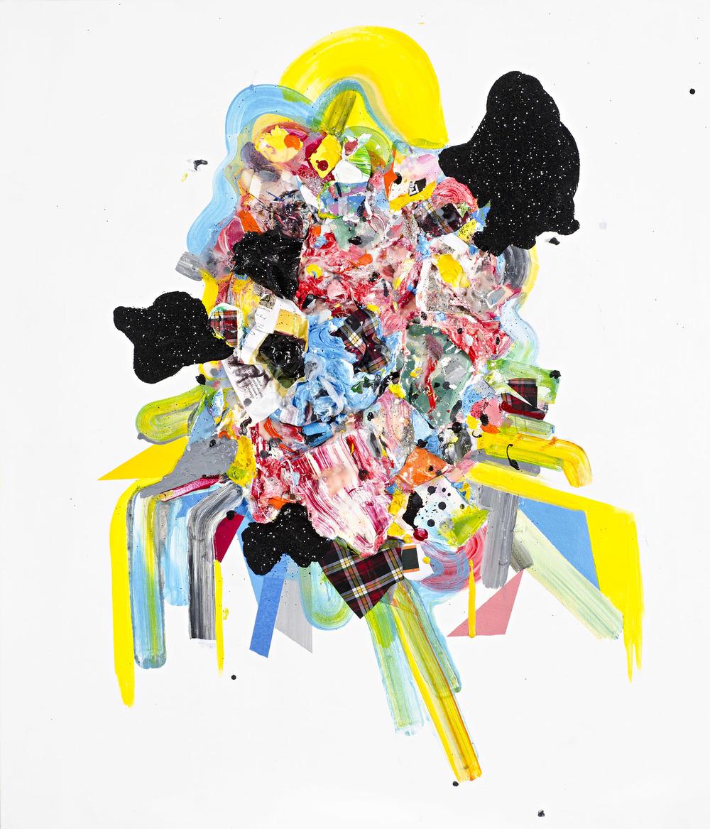 Good Morning, Mr. Rothko ,  2011  Mixed media on canvas 36 x 44 inches