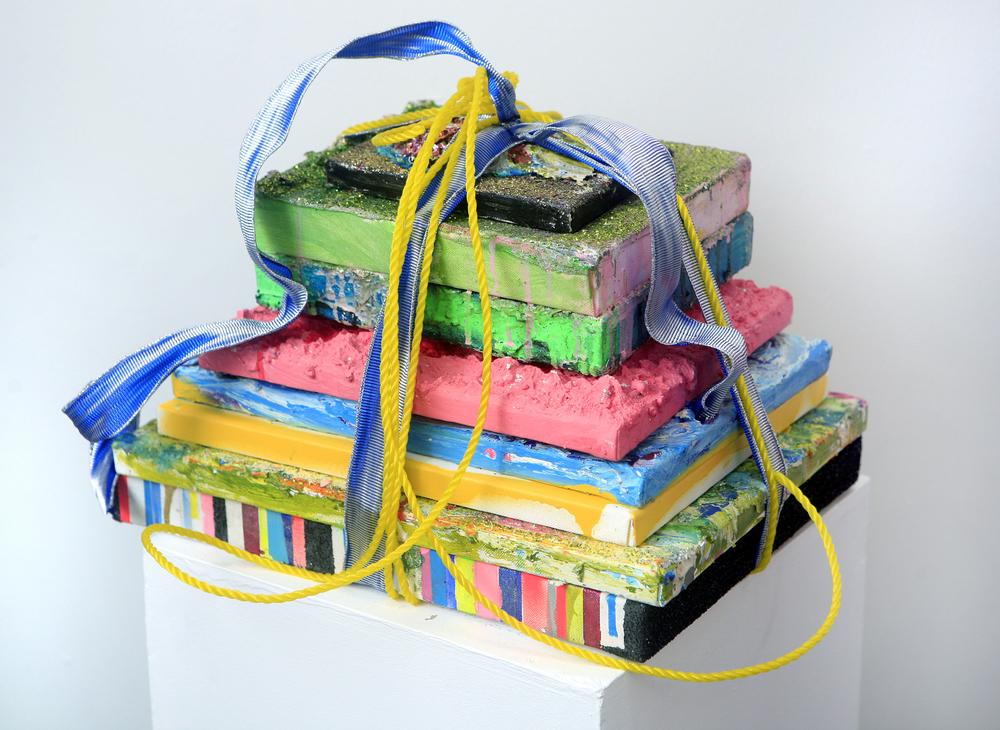 Libros ,  2012  Mixed media-Sculpture 12 x 12 x 16 inches