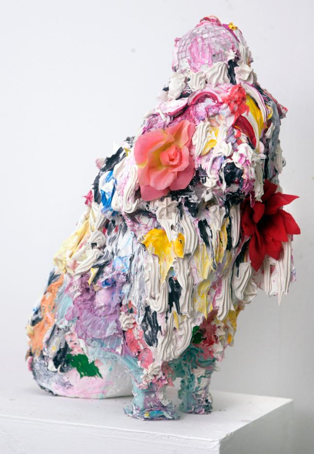 La perra ,  2012  Mixed media-Sculpture 18 x 18 x 1 inches