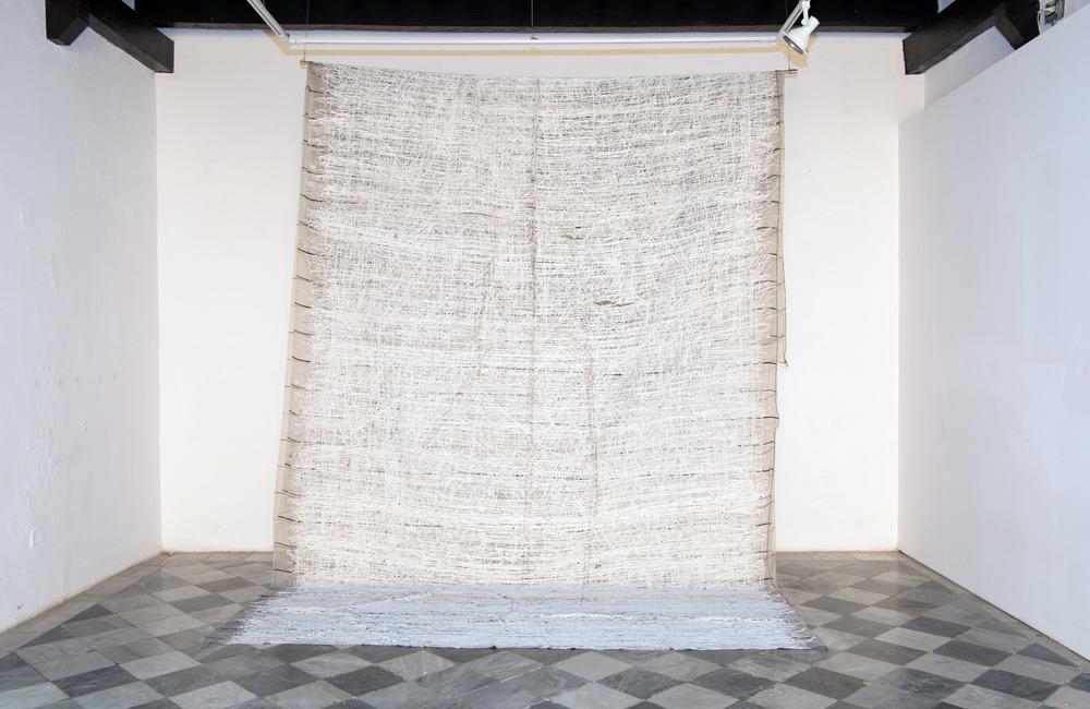 Manto ,2014   Acrylicon fabric   18 x 10 feet