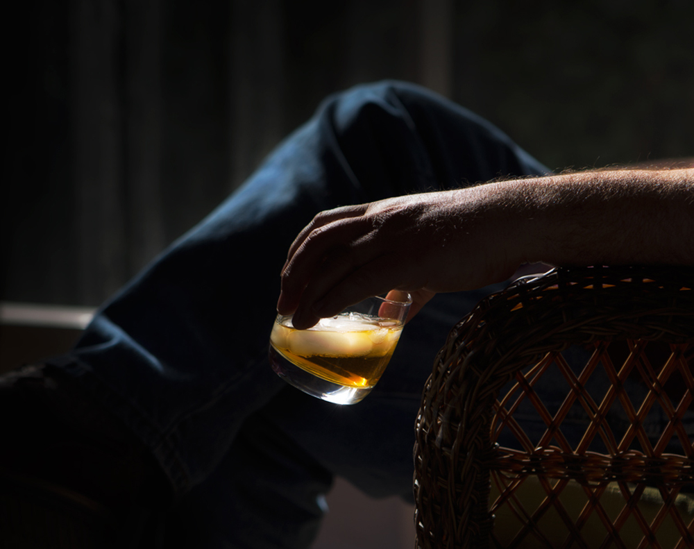 """The old man did not actually drink whiskey anymore. He'd sit hour-long with a glass of bourbon in his hand as if he were absorbing it into his blood by osmosis. Sometimes he'd raise the glass and just smell, taking in the odor of icy whiskey."""