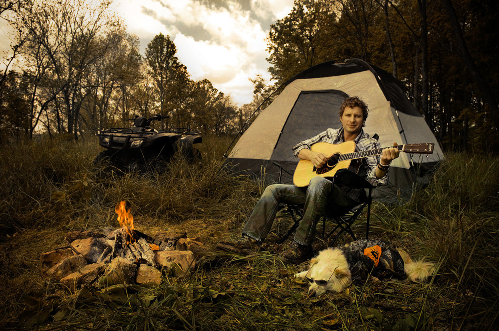 Dierks Bentley on his farm in Williamson County, Tennessee.