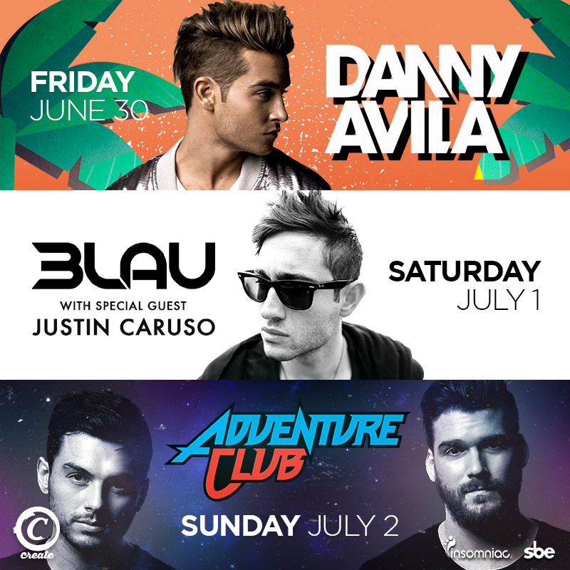 june and july dates for avalon and create nightclub kinky la mode