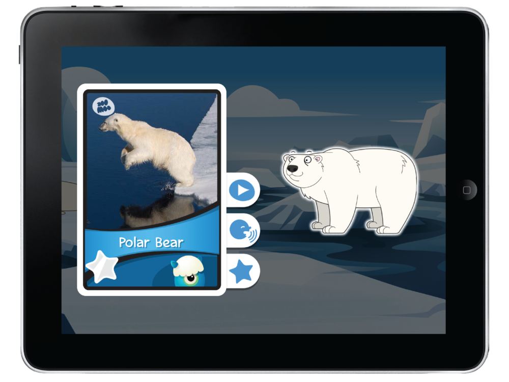 Collect interactive, educational animal cards!