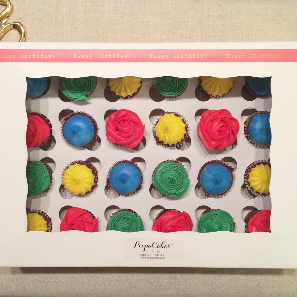 Lego themed mini cupcakes