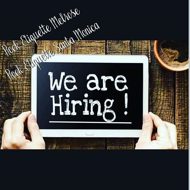 The season is here! We are hiring sales associates @rocketiquette Melrose and Santa Monica! E mail your resumes to elina@rocketiquette.com! #hiring #salesposition #rocketiquette #job #wearehiring