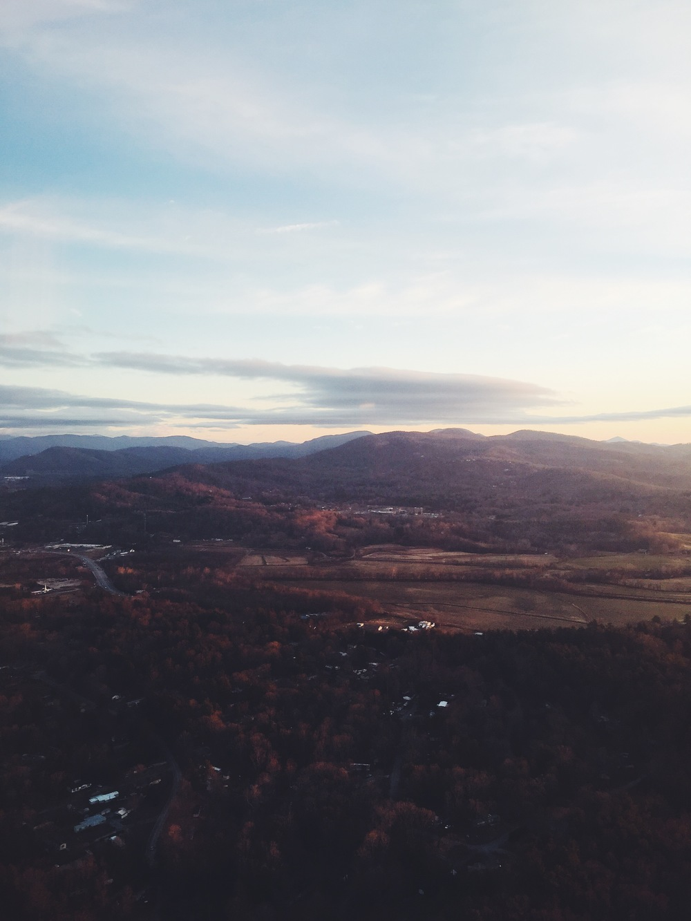 Our view flying into Asheville, North Carolina