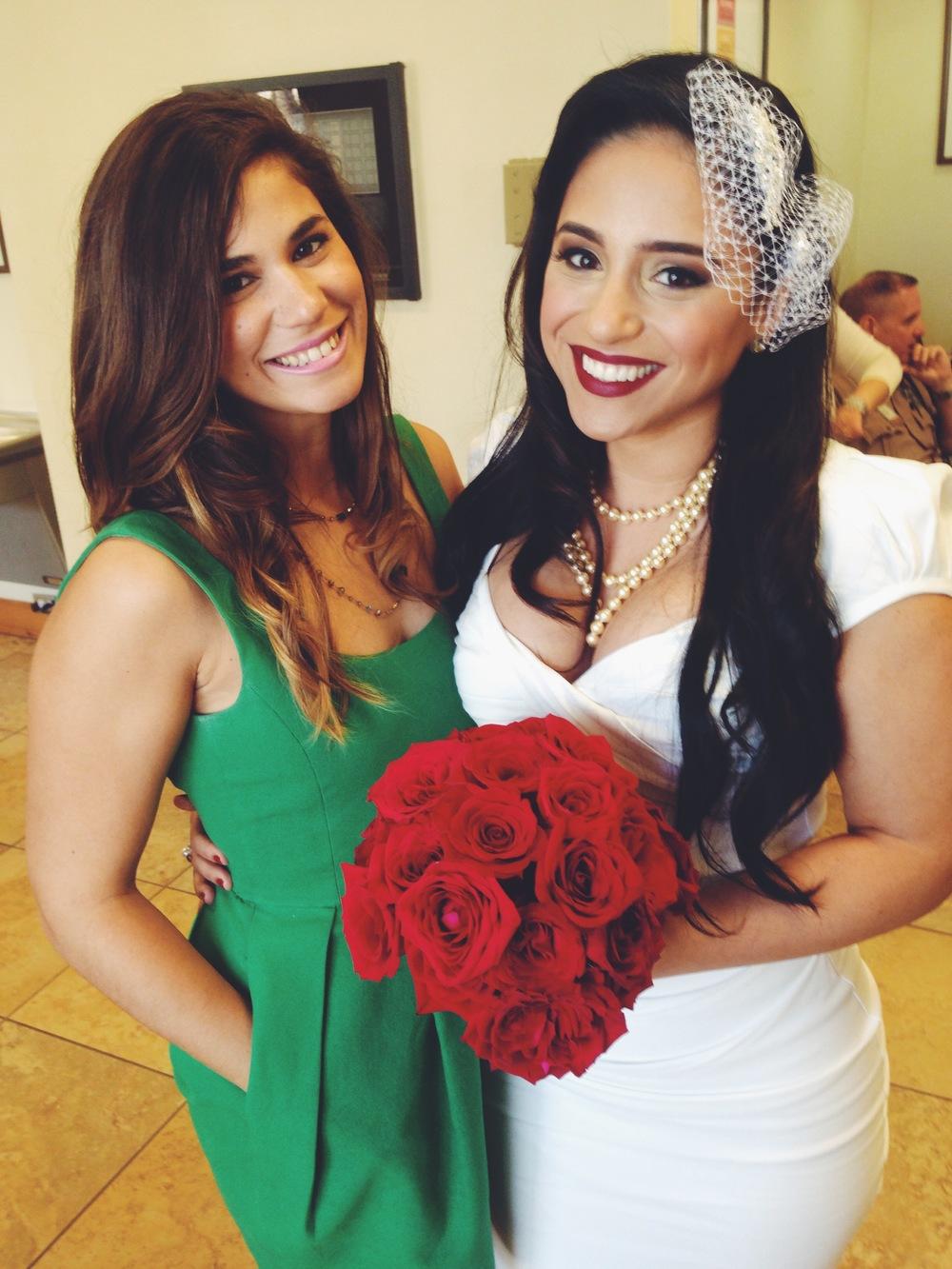 DIY Red Rose Wedding Bouquet