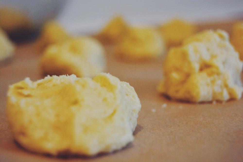 Lemon drop sugar cookie dough