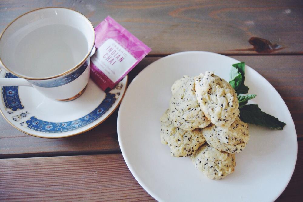 Lemon Drop cookies and Chai Tea