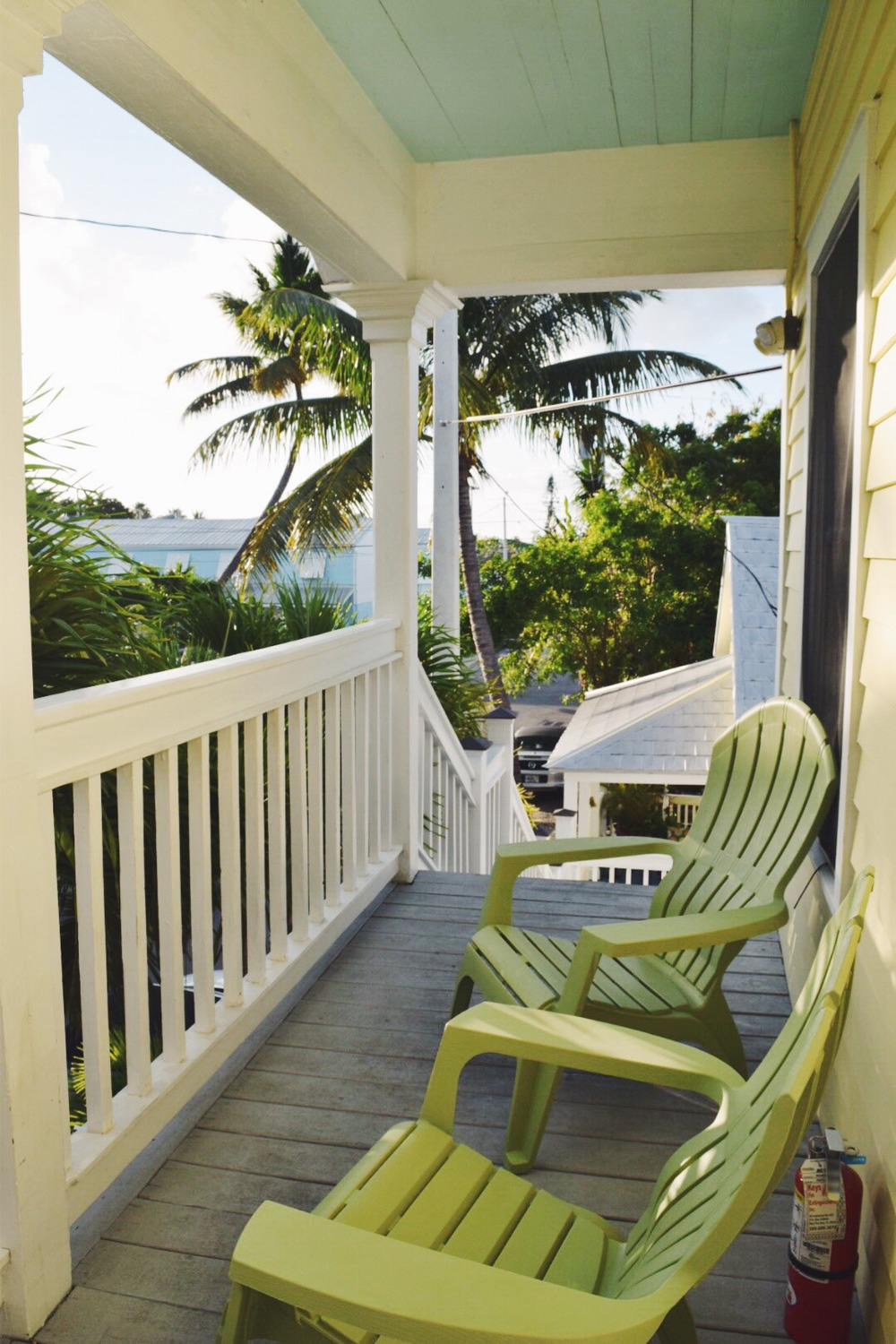 Key West, Florida. Relaxing, sunny vacation. Old Florida home with island views.