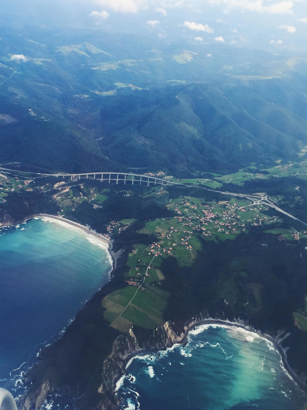 Flying into Oveido, Asturias. Photo Travel Guide to Spain. Euro trippin'!