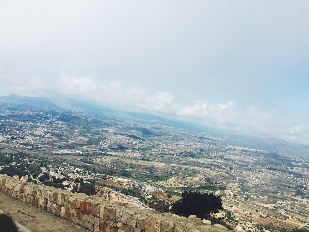 Vacationing in the Spanish Mediterranean.  View of Javea from mountaintop on a little-known hike.
