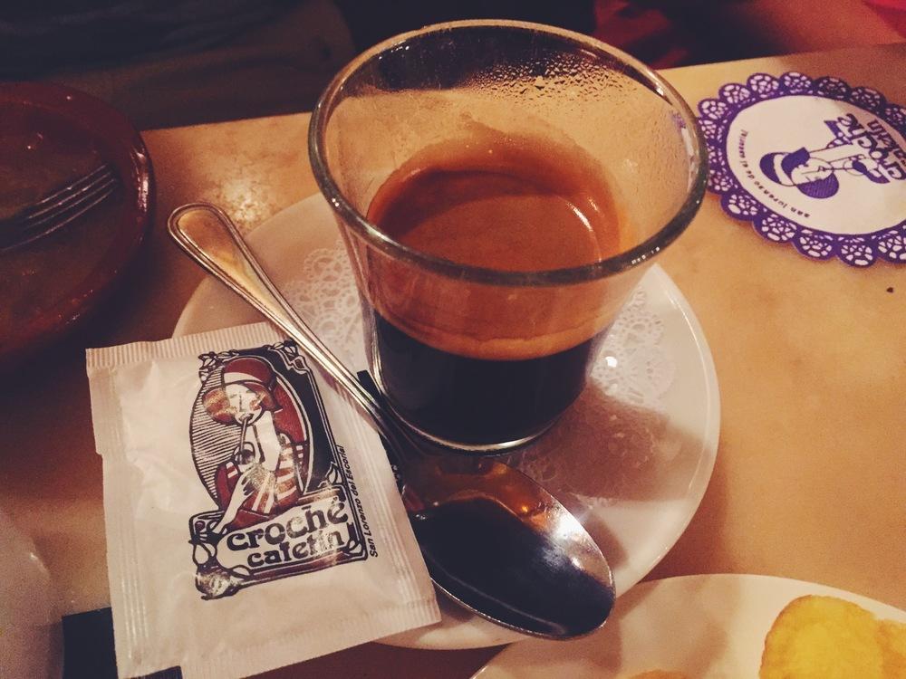 European espresso in San Lorenzo en El Escorial
