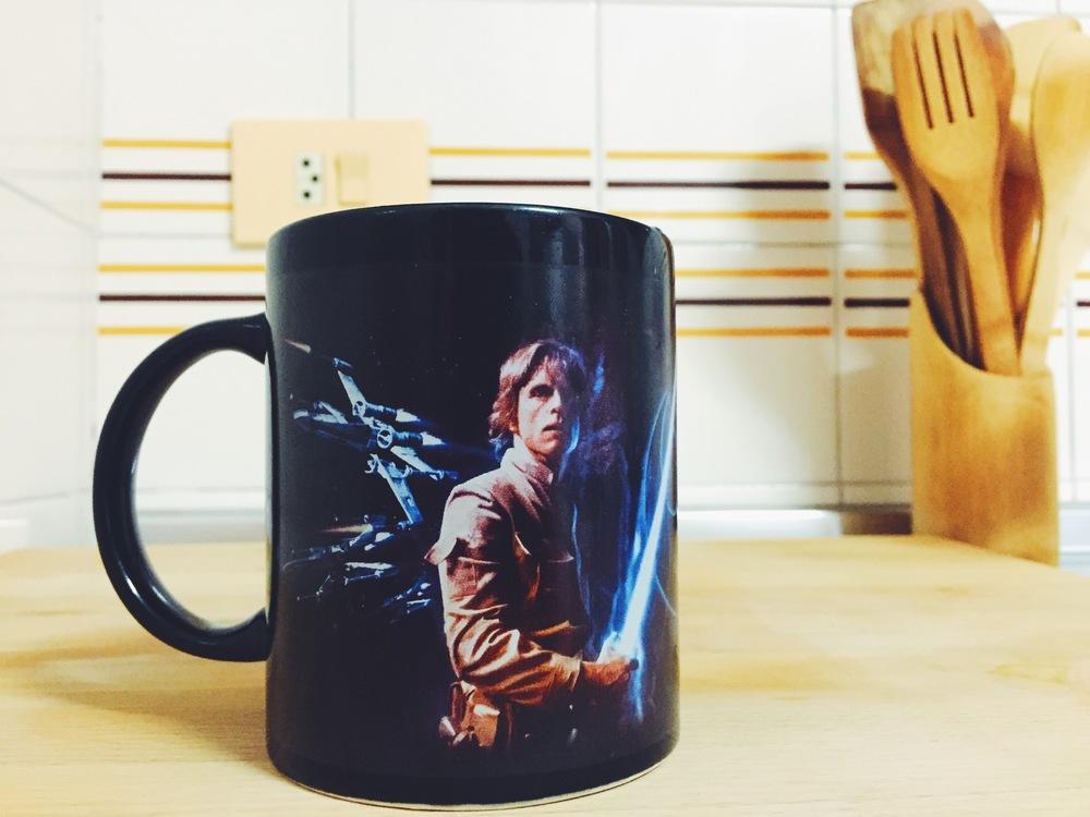 My favorite Starwars coffee mug in Javea, Spain.