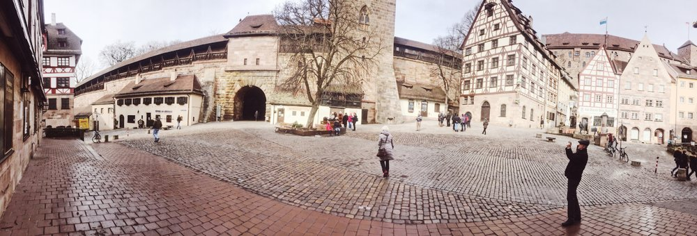 Traveling the streets of Nuremberg, Germany