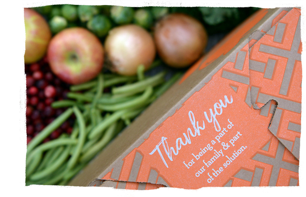 3. We Deliver. - We deliver directly to you & deliver impact directly to our communities. Every delivery saves at least 10 pounds of produce from going to waste & supports the work of local hunger-solving organizations.